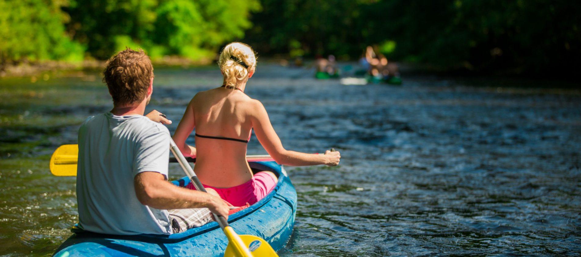 Canoe holiday Ohře river