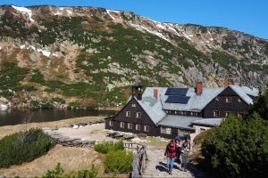 Samotnia mountain hut (1200m) on Polish side of the Giant mountains