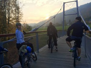 The alternative route follows the Jizera Greenway from Turnov: a light pleasant route along the Jizera River on newly constructed asphalt cycle routes.