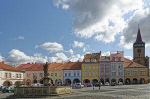 the center of the town of Jičín - gateway to the Bohemian Paradise