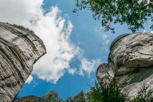 """the """"stone"""" town of Prachov with sandstone rocks"""